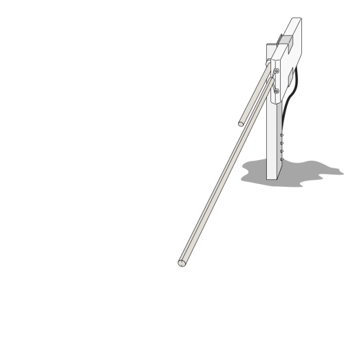 10974 Mounting Stake for CS505 or CS205 (holds 1 of each)