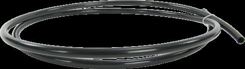 19499 Black Raw Plastic Tubing 0.625 OD x 0.0625