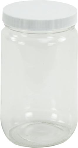 27957 1 L Glass Bottle with Teflon Cap for Samplers