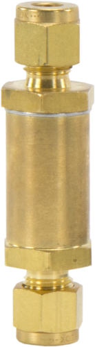 17574 Inline 1/4 Tube Fitting Brass Filter
