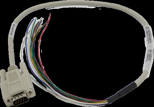 010657 (#17855) Câble série, connecteur DB9 Mâle avec fils dénudés