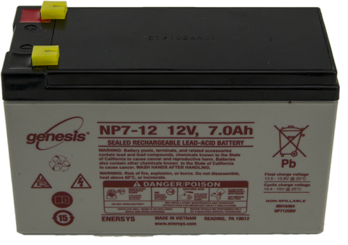 6053 12 V Lead-Acid Battery with Bare Terminals