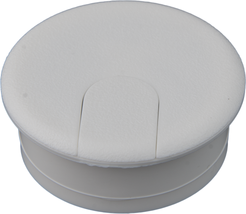 10613 1-3/4 White Flip-Top Plastic Cap Grommet