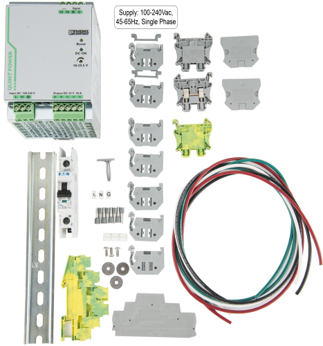 28372 24 Vdc 20 A Power Supply Kit (battery not included)