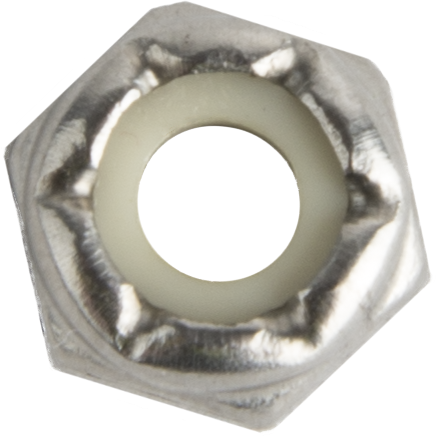 8673 #10-32 Nylock Nut, Low Profile SS