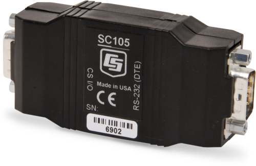 SC105 CS I/O to 9-Pin RS-232 DCE Synchronous Interface