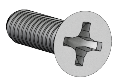 446 Screw #6-32 x .500 Flat Phillips
