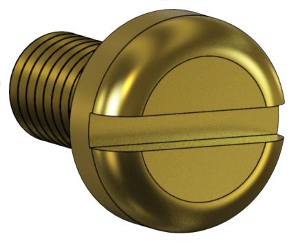 10645 Screw #10-32 x .312 Pan Slot, Brass