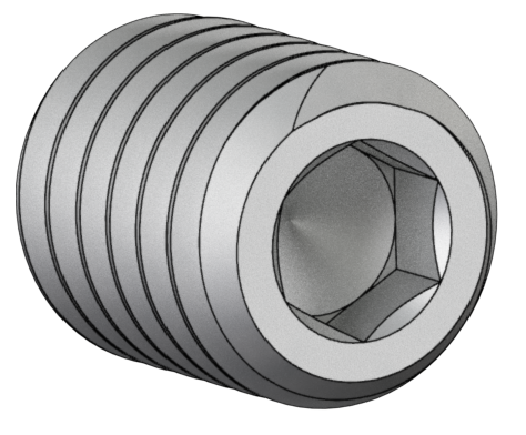 31023 18-8 Stainless-Steel 3/8-16 x 0.500 Screw Knurled Set Socket Cup