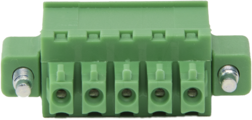 8480 5-Pin Screw Terminal Plug Connector with Threaded Flange