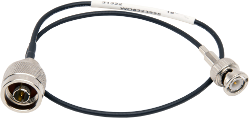 31322 RG174 Antenna Cable, Type N Male to BNC Male