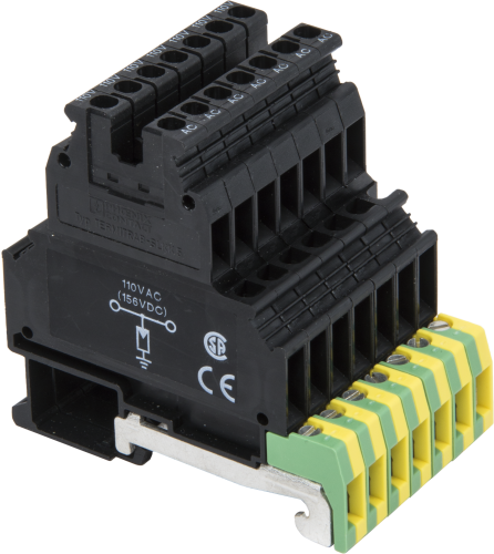 8206 1-Conductor Surge Protector with DIN-Rail Mounts