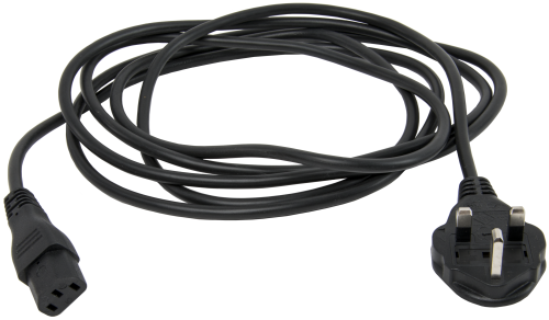 18653 10 A Detachable Power Cord for Use in United Kingdom and Ireland