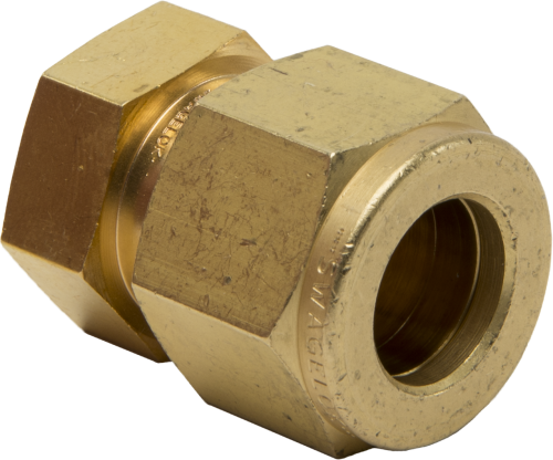 17335 Brass Fitting Tubing Cap 1/2 OD