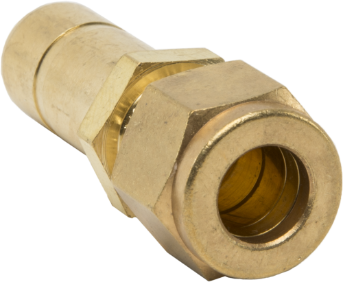 17379 Brass Fitting Tubing Reducer, 3/8 Tube Fitting x 1/2 Tube Stub