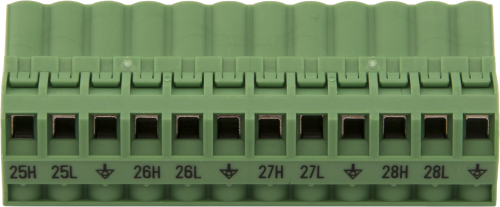 30375 Replacement AM16/32B Channels 25 to 28 Connector