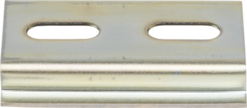 30351 Yellow Chromated DIN Rail with 100 mm Hole Spacing
