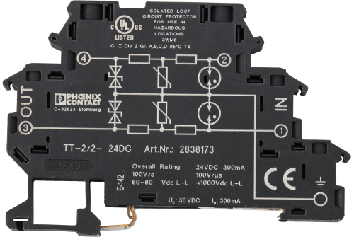 31274 DIN-Rail Mountable 2-Wire 6.2 mm 24 V Digital Surge Protector