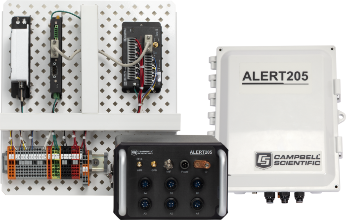 ALERT205 with the backplate, canister, and enclosure options collectively (each option sold separately)