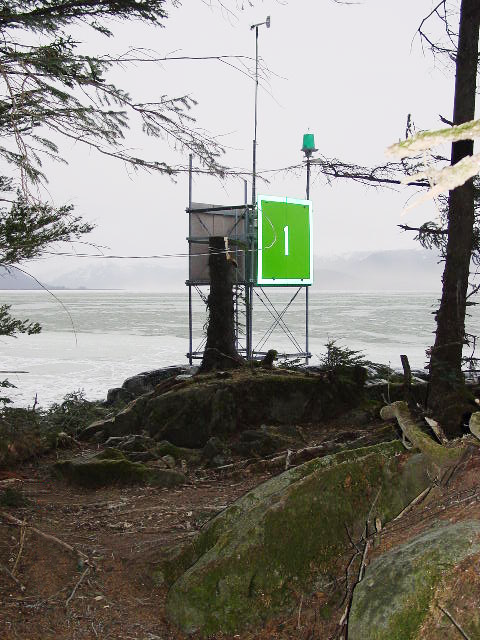 Weather station project installed on the coast of southeastern Alaska