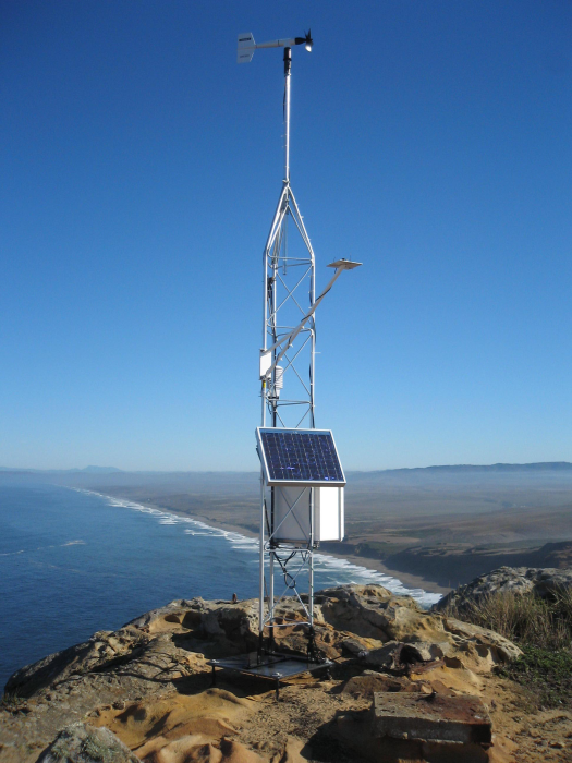 Point Reyes weather station (Photo courtesy of David Simeral)
