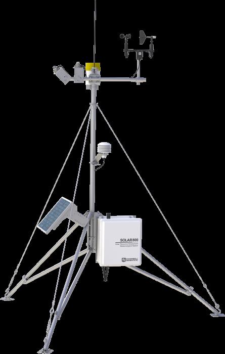 Station météorologique pour la mesure du potentiel solaire