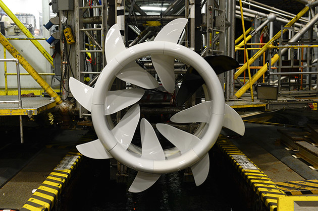 The hydrokinetic turbine developed by Oceana Energy Company