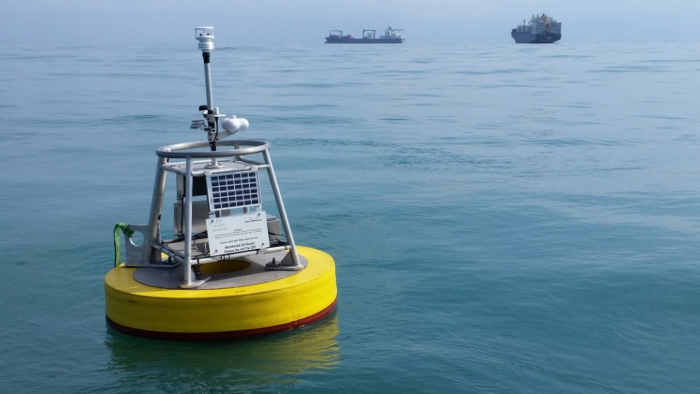 Buoy deployed in the Caribbean Sea