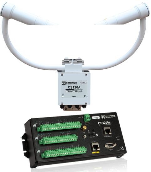 Capteur de visibilité CS120A et une centrale de mesure CR1000X