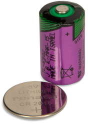 coin-cell and 1/2 AA size cell batteries