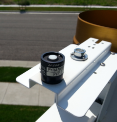 solar radiation sensor on ET station