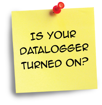 Is Your Datalogger Turned On?