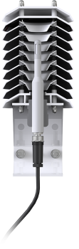 Section view of the EE181-L probe inserted in the RAD10E shield