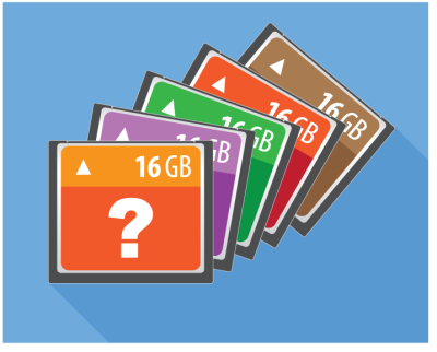 memory cards with question mark