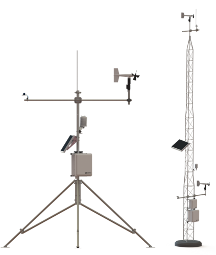 Examples of tower and tripod stations