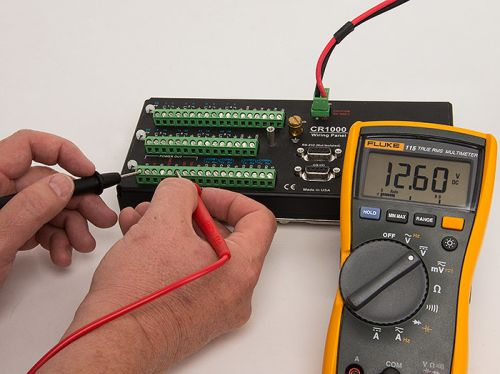 A multimeter and datalogger