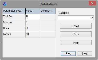 DataInterval() instruction