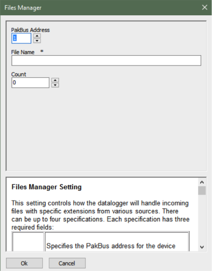 files manager screen shot