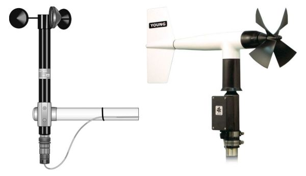 014A-L and 05013 cup and propeller anemometers