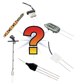 Variety of soil water content sensors