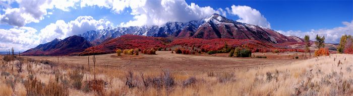 Mountain view in Cache Valley