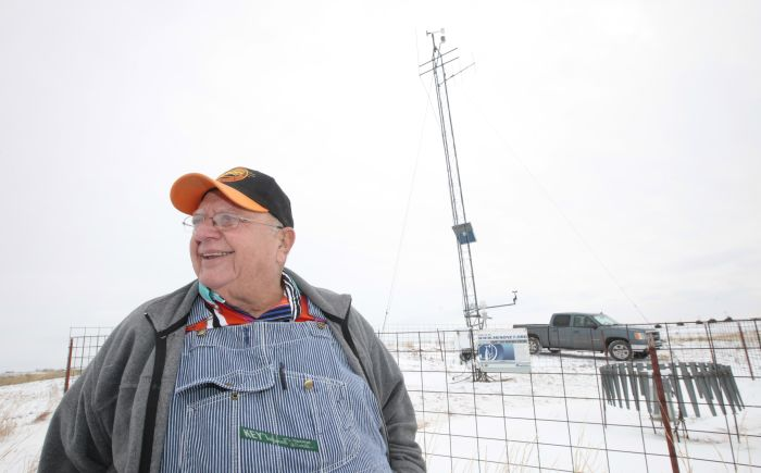 Wayne Krehbiel hosts the Hinton Mesonet station for the Oklahoma Mesonet