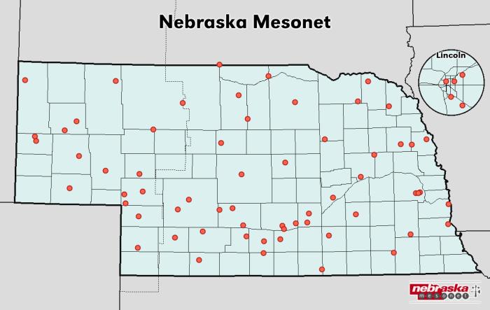 Station plotting in the Nebraska Mesonet