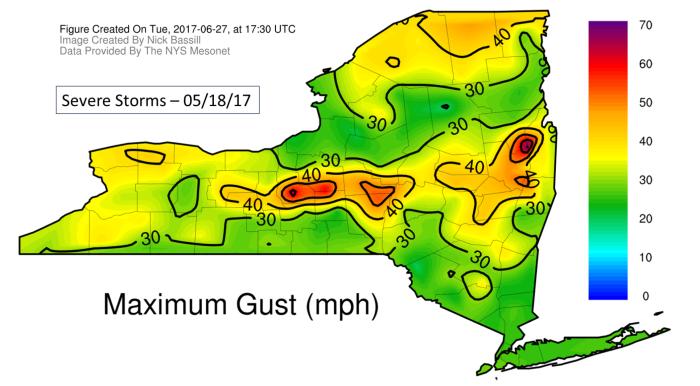 Maximum Gust map