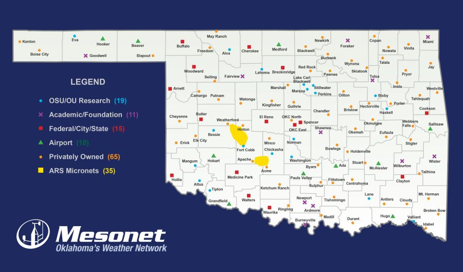 Station plotting in the Oklahoma Mesonet