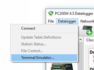 Selecte Terminal Emulator...