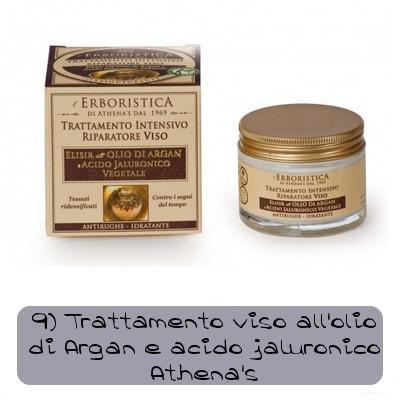 trattamento viso acido ialuronico e argan