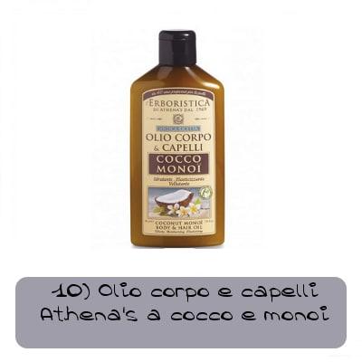 olio capelli e corpo athenas cocco e monoi