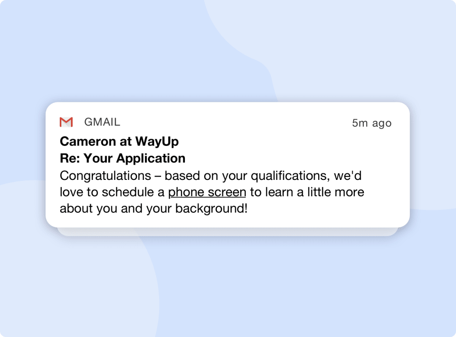 Qualification email notification