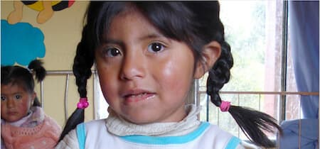 Young girl from Alpacoma, Bolivia